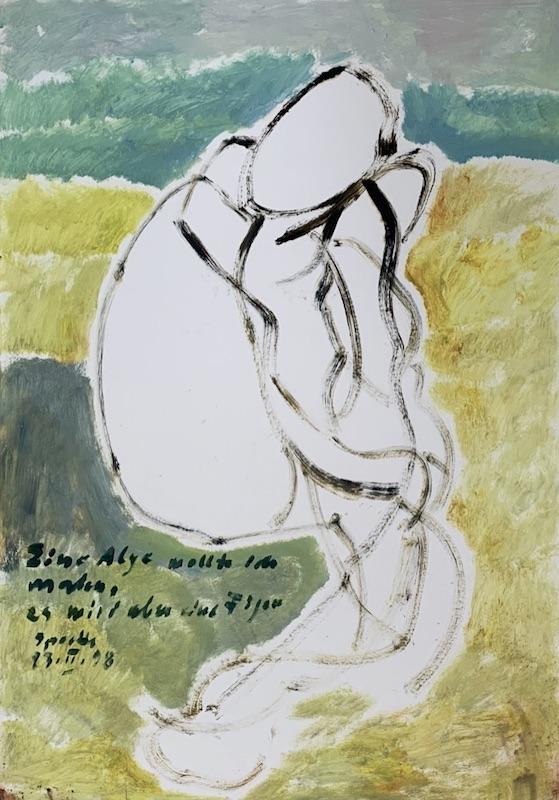 """""""Eine Alge wollte ich malen, es wird aber eine Figur"""" (1998)"""