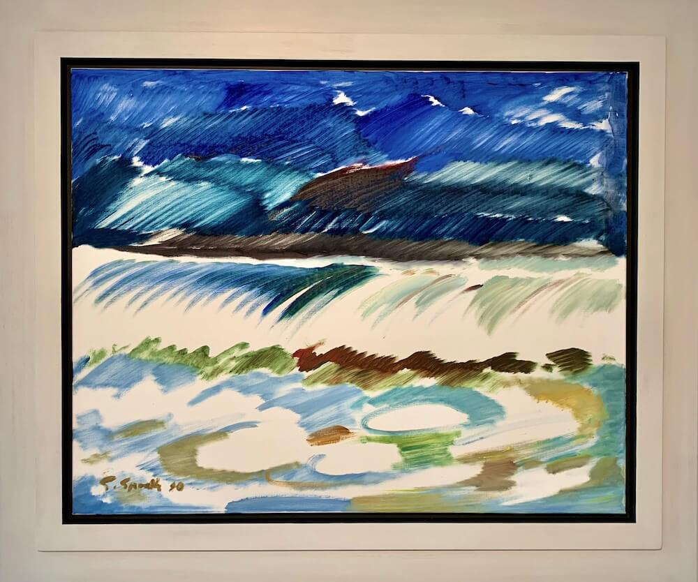 Siegward Sprotte, Farbensprache, 1990, Öl auf Leinwand, 80 x 100 cm
