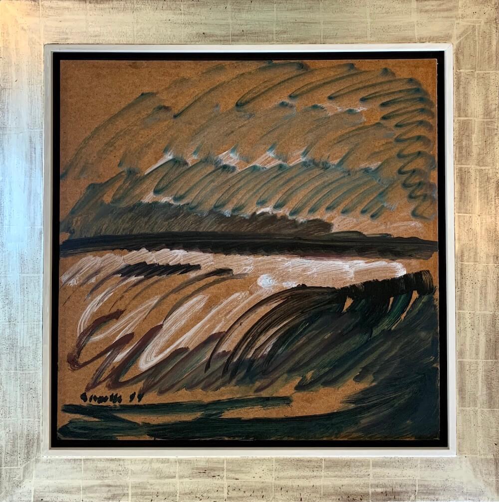 Siegward Sprotte, Nachtwoge, 1994, Öl auf Hartfaser, 61 x 61 cm