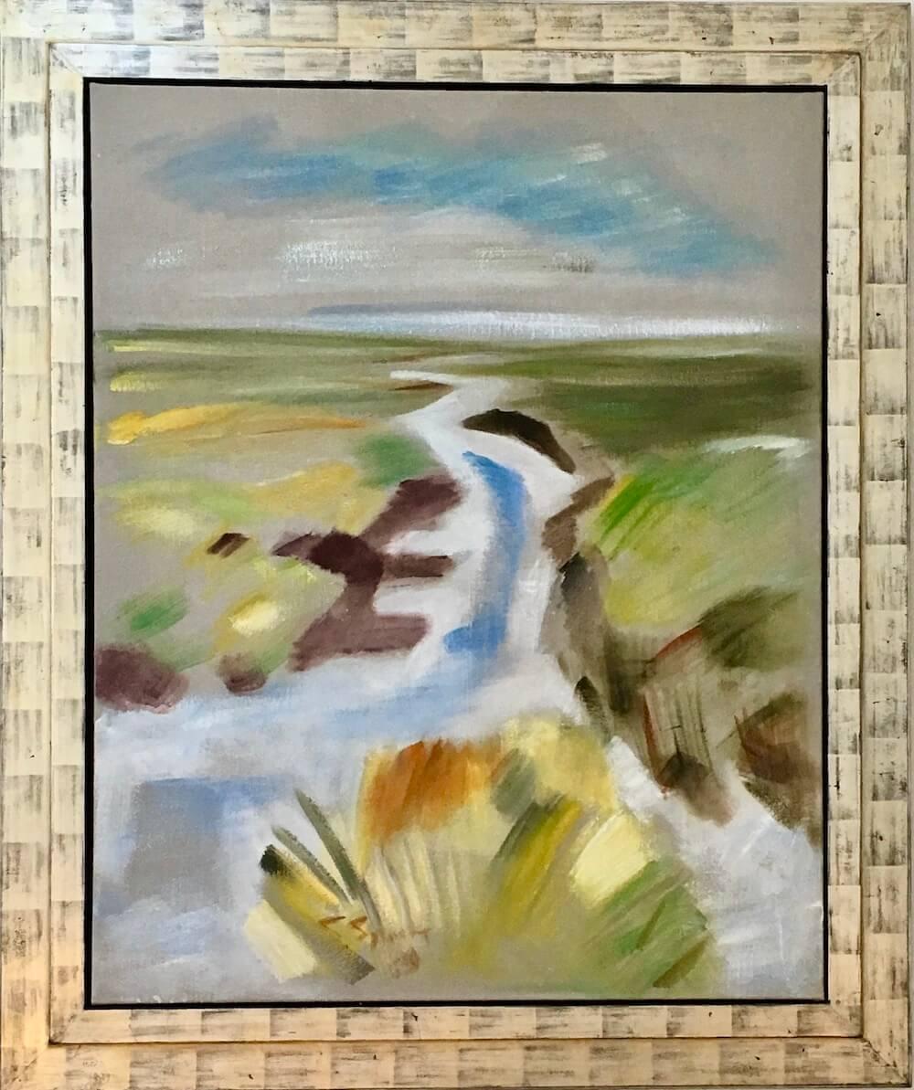 Siegward Sprotte, Priel, 1989, Öl auf Leinwand, 125 x 100 cm, m.R. 151 x 126 cm