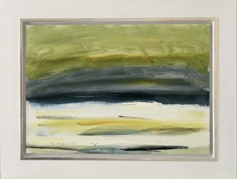 1) Siegward Sprotte, Gesicht einer Landschaft II, 1995, Öl auf Leinwand-Pappe, 50 x 70 cm, m.R, 23420-5