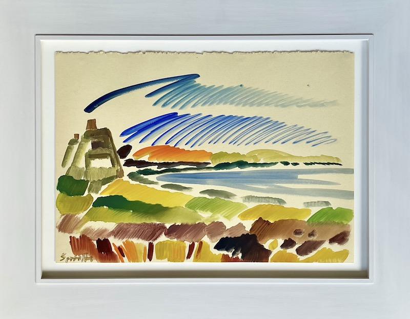 Siegward Sprotte, Am Watt, Kampen 1989, 43,1 x 61 cm, m.R.
