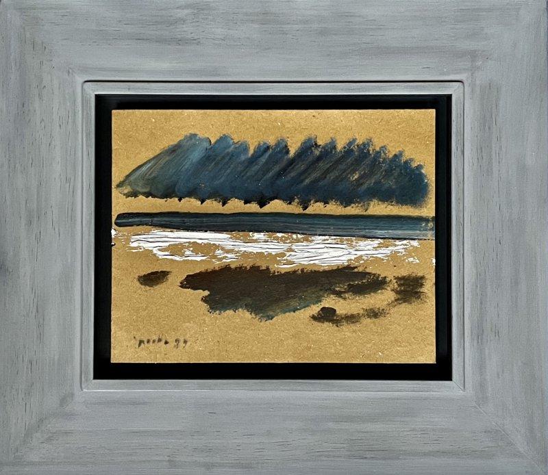 Siegward Sprotte, Day after Day a good Day IV 1989, Öl-Tempera auf Karton, 21,7 x 30,9 cm