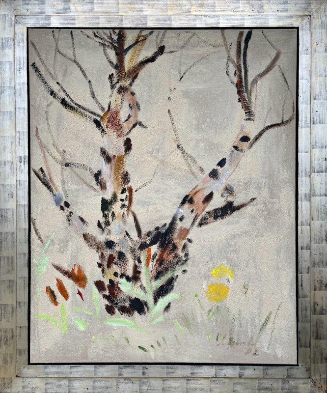 Siegward Sprotte, Leben mit Bäumen, 1992, Öl auf Leinwand, 125 x 100 cm,