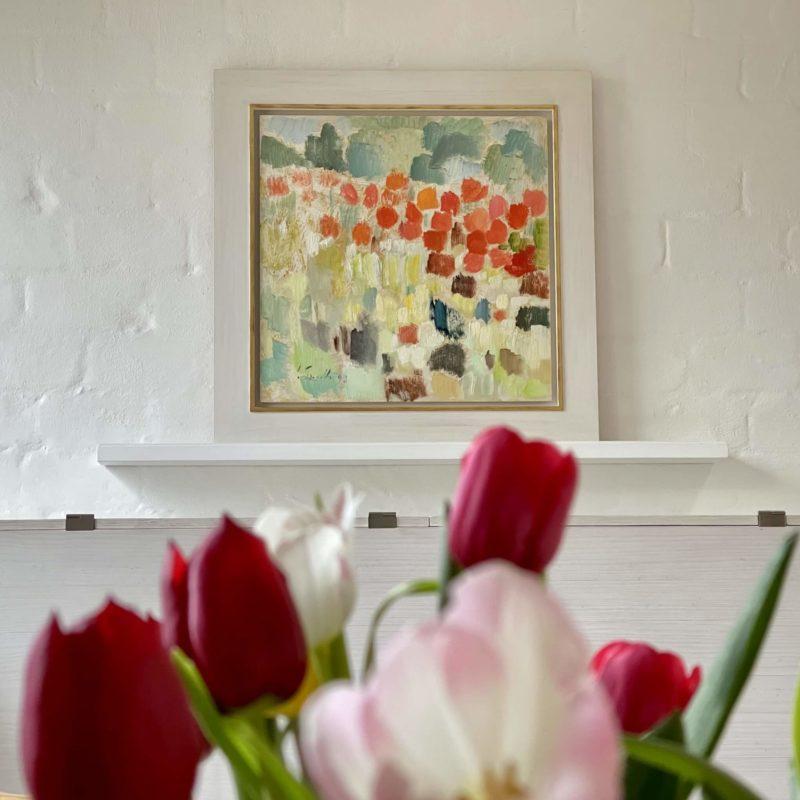 Siegward Sprotte, Mohn, 1997, Öl auf Karton, 61 x 61 cm